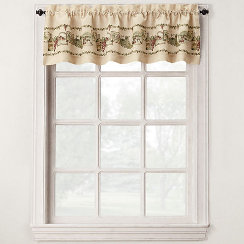 Bordeaux Rod-Pocket Tailored Valance