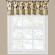 Coffee Shoppe Rod-Pocket Tailored Valance