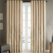 Madison Park Eliza Rod-Pocket/Back-Tab Curtain Panel