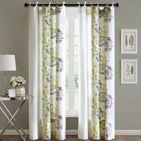 Madison Park Adria Scoop Grommet-Top Cotton Curtain Panel