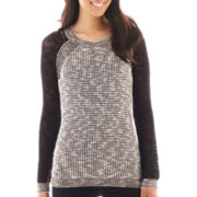 a.n.a® Long-Sleeve Colorblock Sweater - Petite