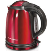 Hamilton Beach® 1-Liter Red Stainless Steel Electric Kettle