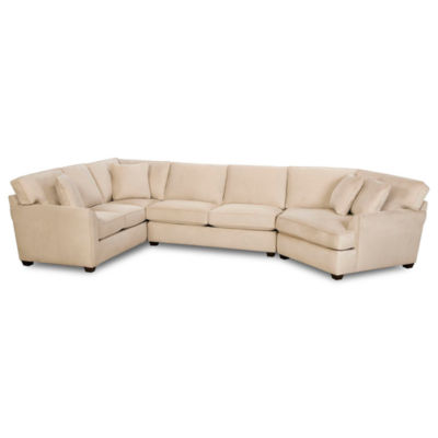 Fabric Possibilities Sharkfin-Arm 3-pc. Left-Arm Corner Sofa Sectional