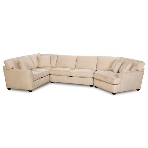 Fabric Possibilities Sharkfin-Arm 3-pc. Left-Arm Corner Sofa Sectional