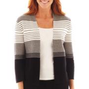 Liz Claiborne® Open-Front Cardigan Sweater