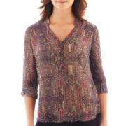 a.n.a® 3/4-Sleeve Shirred Shoulder Tunic