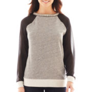 a.n.a® Embellished-Neck Sweatshirt
