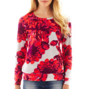 a.n.a® Long-Sleeve Floral Sweatshirt