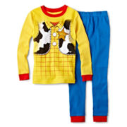 Disney Collection Sheriff Woody 2-pc. Pajama Set – Boys 2-10