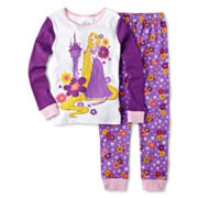 Disney Collection Rapunzel 2-pc. Pajama Set - Girls 2-10