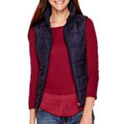 Liz Claiborne® Puffer Vest - Tall