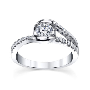 jcpenney.com | Sirena® 3/4 CT. T.W. Diamond 14K White Gold Bypass Bridal Ring
