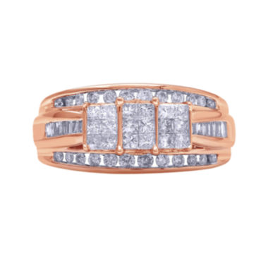 jcpenney.com | 1 CT. T.W. Diamond 10K Rose Gold Princess-Cut Multi-Top Ring