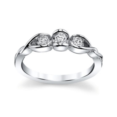 jcpenney.com | Sirena® 1/2 CT. T.W. Diamond 14K White Gold 3-Stone Ring