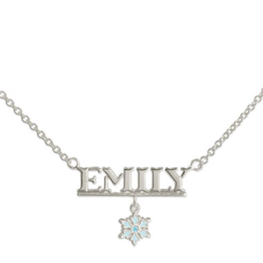 jcpenney.com | Disney Frozen Personalized Sterling Silver Snowflake Snowflake Name Necklace