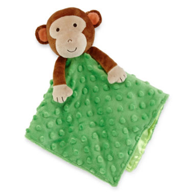 jcpenney.com | Okie Dokie® Plush Monkey Snuggle Buddy Blanket