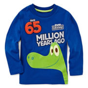 Disney Apparel by Okie Dokie Good Dinosaur Long Sleeve Tee - Toddler Boys 2t-5t