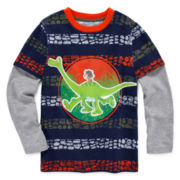 Disney Apparel by Okie Dokie® Long-Sleeve Good Dino Tee - Preschool Boys 4-7