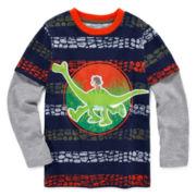 Disney by Okie Dokie® Long-Sleeve Good Dino Tee - Preschool Boys 4-7