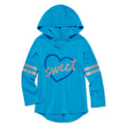 Okie Dokie® Glitter Fleece Hoodie - Preschool Girls 4-6x
