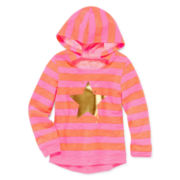 Okie Dokie® Graphic Hoodie - Preschool Girls 4-6x