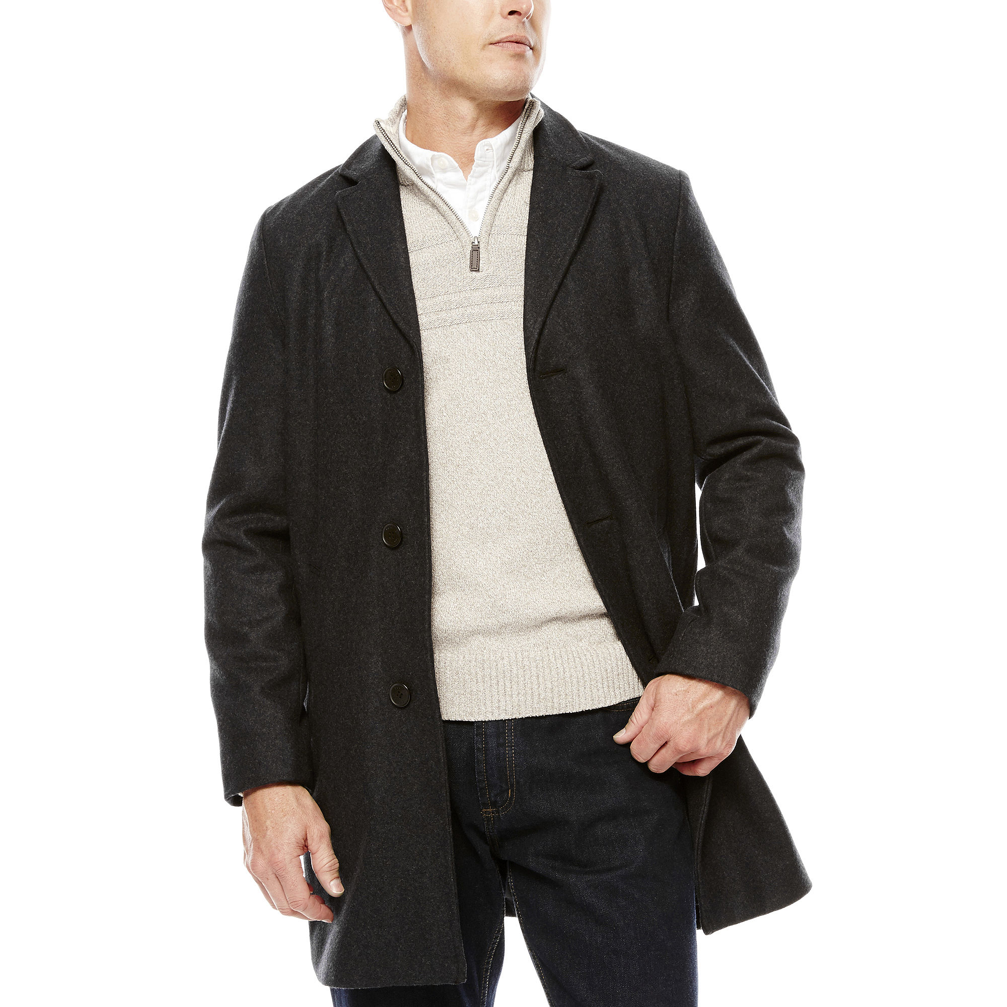 Dockers Wool-Blend Top Coat
