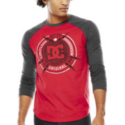 DC® Chiseled Raglan-Sleeve Graphic Tee