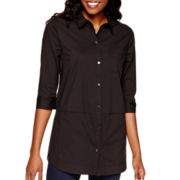 Heart & Soul® 3/4-Sleeve Poplin Tunic