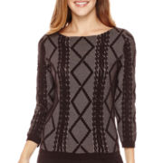 Worthington® 3/4-Sleeve Textured Pullover Sweater