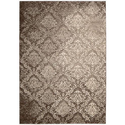 Kathy Ireland® Royal Shimmer Wool Shag Rectangular Rug