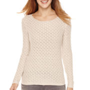 Liz Claiborne® Long-Sleeve Boatneck Sweater