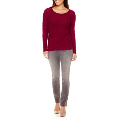 jcpenney.com | Liz Claiborne® Boatneck Sweater or City-Fit Skinny Jeans - Petite