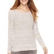 Liz Claiborne® Long-Sleeve Boatneck Sweater