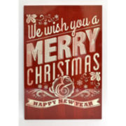 We Wish You A Merry Christmas Nostalgic Wall Decor