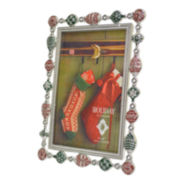 "Christmas Ornament 4x6"" Picture Frame"