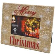 Burlap Merry Christmas 4x6