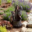 Navarro Boy and Girl Outdoor Water Fountain