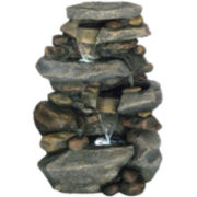 Navarro Stone Waterfall Outdoor Fountain