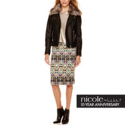nicole by Nicole Miller® Embellished T-Shirt, Scuba Skirt or Faux-Leather Jacket