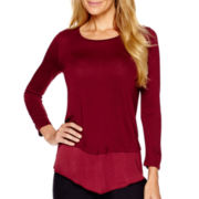 Liz Claiborne® Long-Sleeve Layered Top