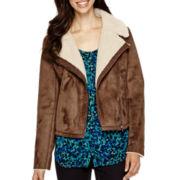 Liz Claiborne® Faux-Shearling Moto Jacket