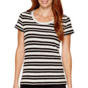 Liz Claiborne® Weekend Short-Sleeve Textured T-Shirt