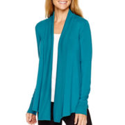 Liz Claiborne® Weekend Long-Sleeve Ribbed-Trim Cardigan