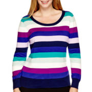 Worthington® Long-Sleeve Essential Crewneck Sweater - Plus