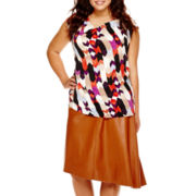Worthington® Drape-Neck Blouse or Asymmetrical Skirt - Plus