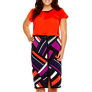 Worthington® Buckle Blouse or Pencil Skirt - Plus