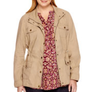 St. John's Bay® Long-Sleeve Anorak Jacket - Plus