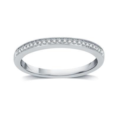 I Said Yes Womens Diamond Accent Genuine White Diamond Platinaire Wedding Band