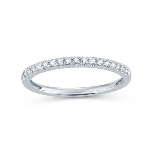 Womens 1/5 CT. T.W. Genuine White Diamond 14K Gold Wedding Band