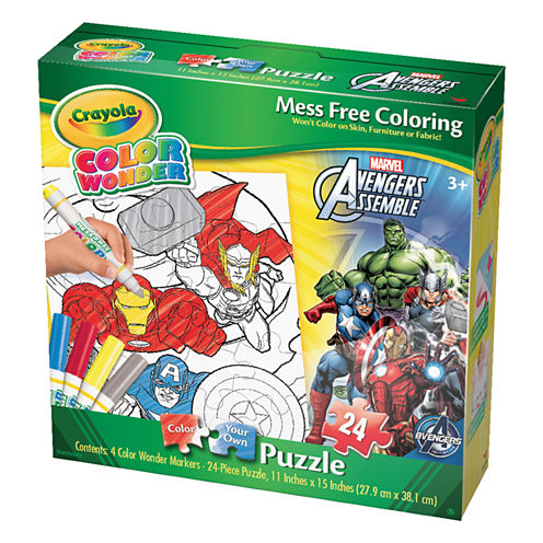Cardinal Crayola Color Wonder Puzzle - Marvel Avengers Assemble: 24 Pcs
